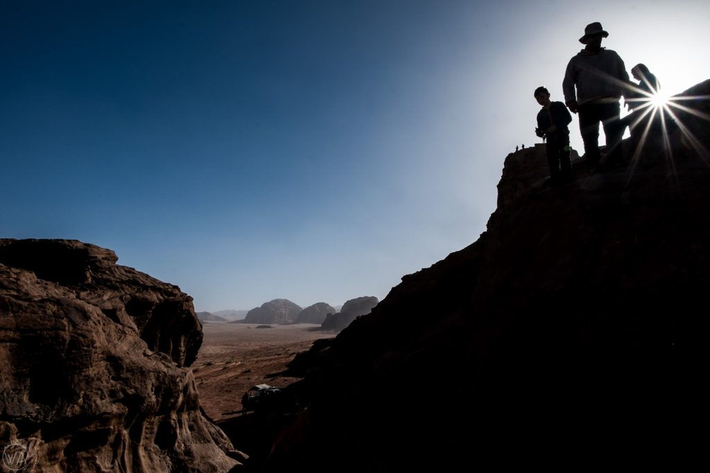 The hikers, Wadi Rum, Jordan