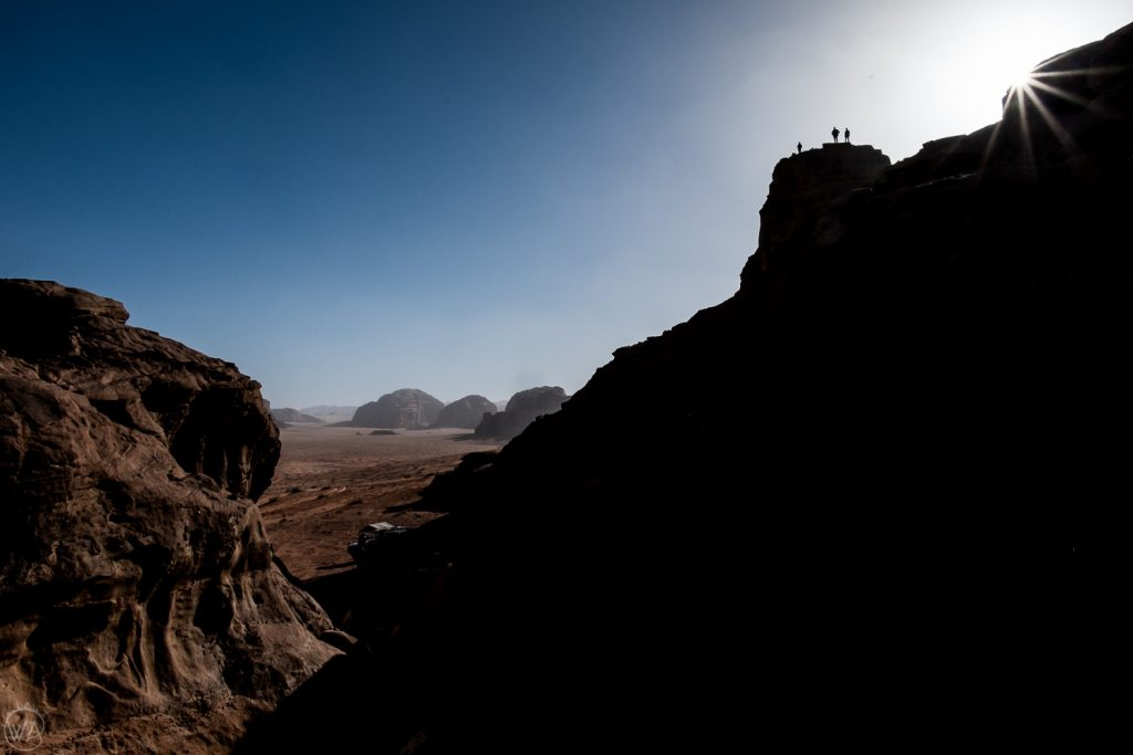 Shadows and the sun, Wadi Rum