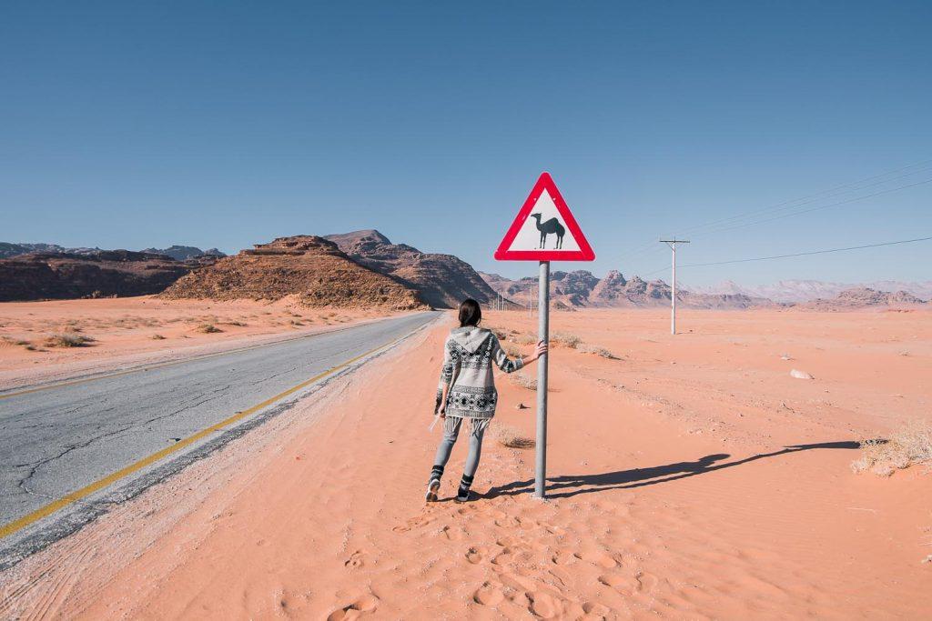 The camel sign, Wadi Rum, Jordan
