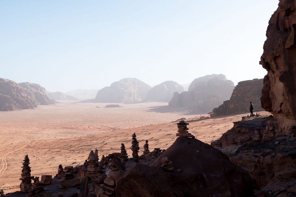 People are so small in comparison to nature. Wadi Rum, Jordan