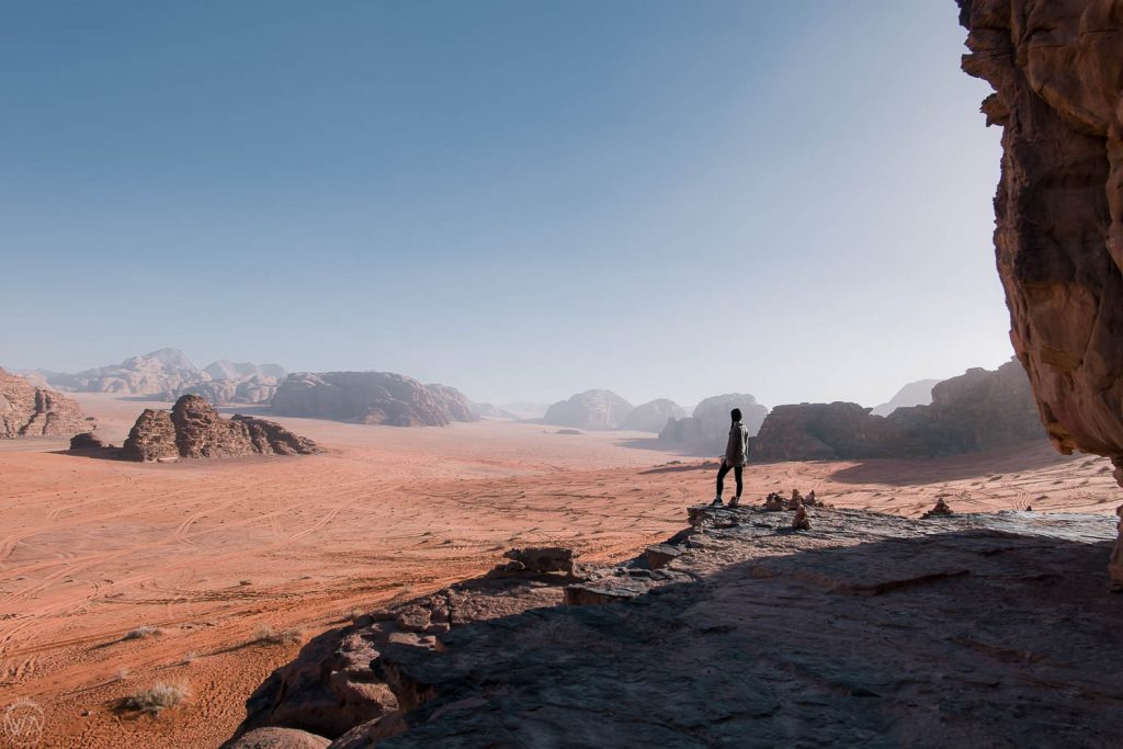 Overlooking the Wadi Rum