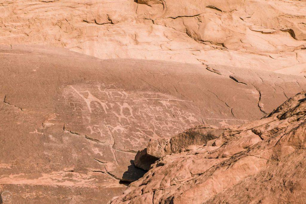 Nabataean Petroglyphs in Wadi Rum