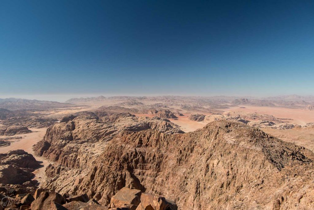 The views from Jabal Umm ad Dami, Saudi Arabia desert