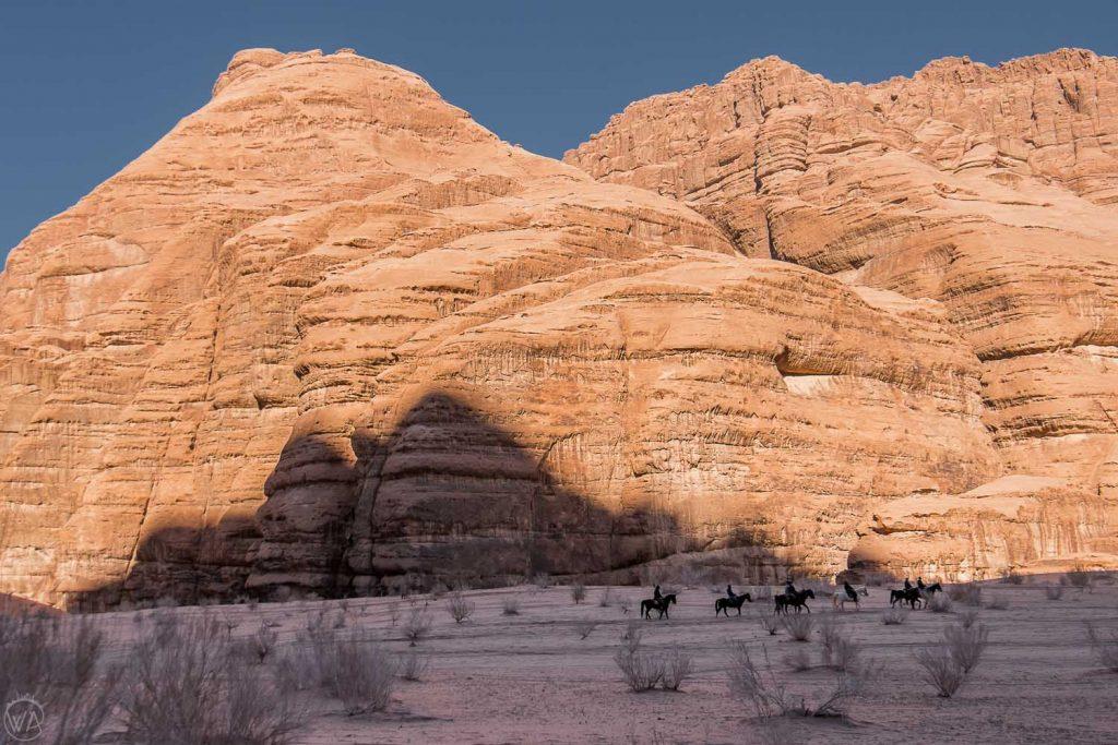 Horse riding in the Wadi Rum area, Jordan