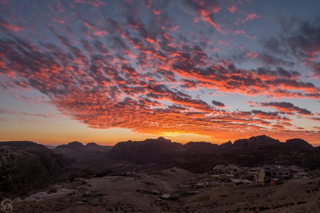 Sunset above little Petra, Jordan itinerary