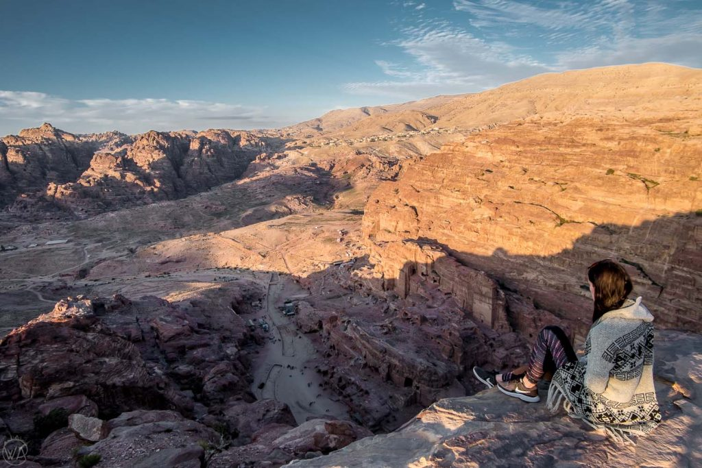 High above the Royal Tombs, The High Sacrifice hike, Petra, Jordan itinerary