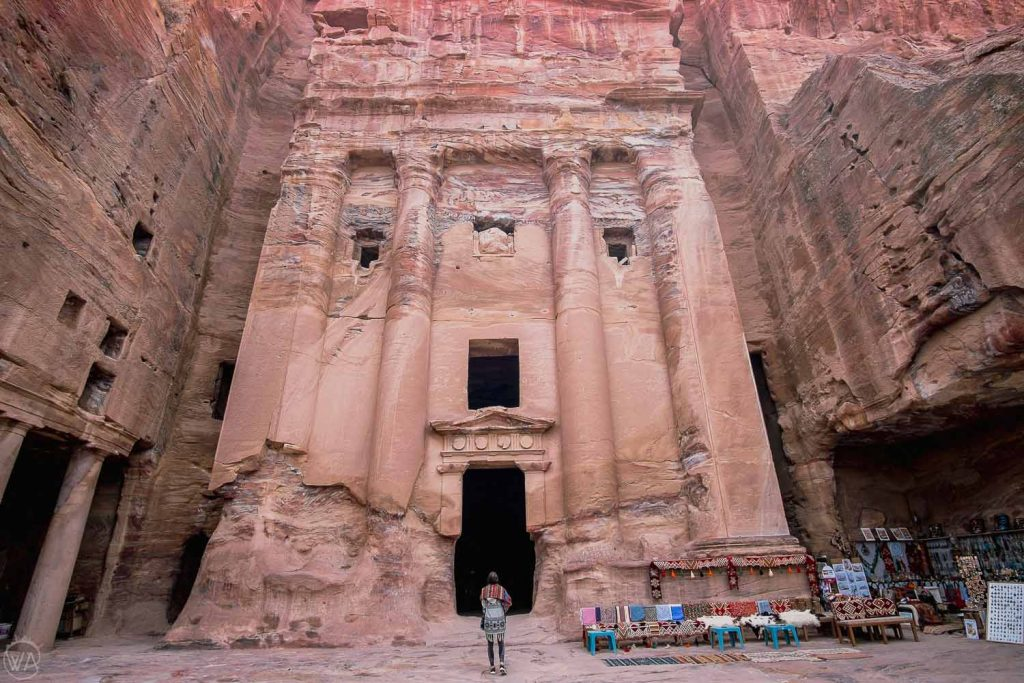 Entering the Royal Tombs, Petra, Jordan itinerary