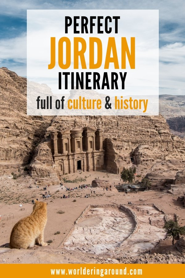 Perfect detailed Jordan itinerary for all the culture, history and architecture lovers. Discover amazing architecture in Jordan, important historical sites and rich culture. All that in the picturesque settings. Detailed guide with a map, including Amman, Petra, Wadi Rum, Aqaba, Dead Sea, Jerash and more | Worldering around #Jordan #Petra #architecture #history #culture #middleeast #itinerary