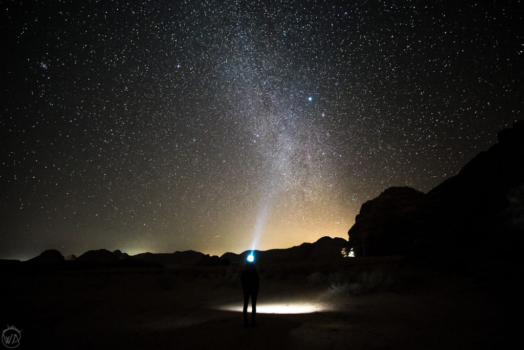 Watching the stars in the Wadi Rum desert, Jordan itinerary