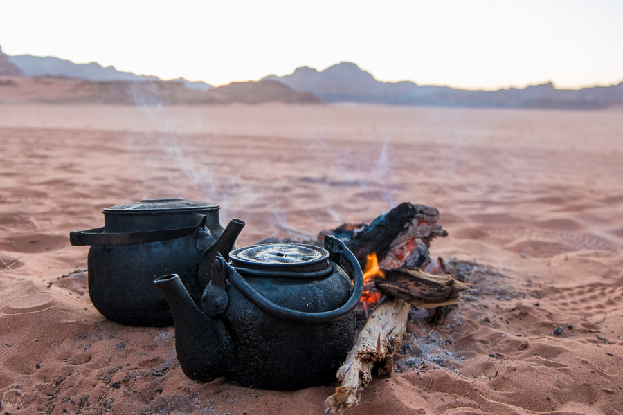 Bedouin tea on the Wadi Rum desert, Jordan