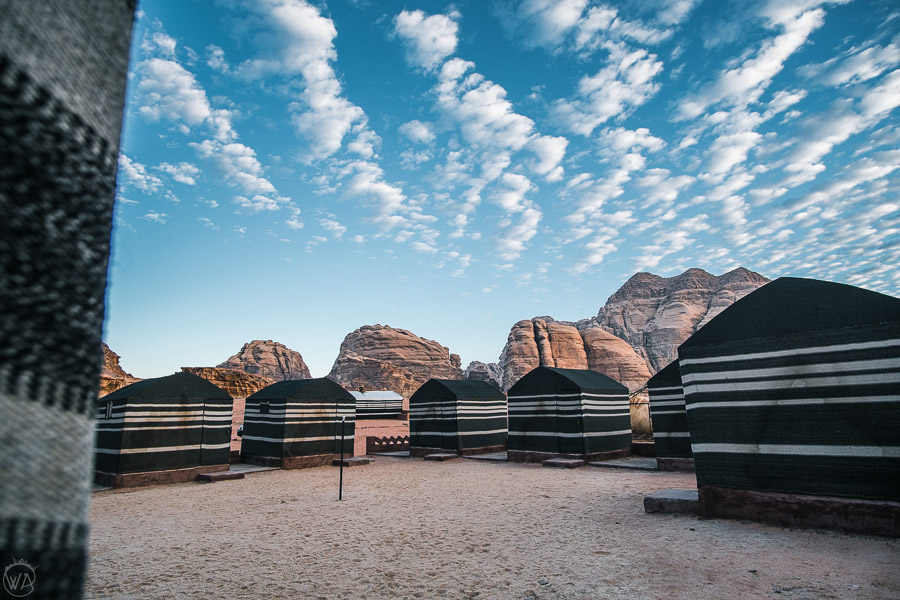 View to the Wadi Rum Bedouin camp