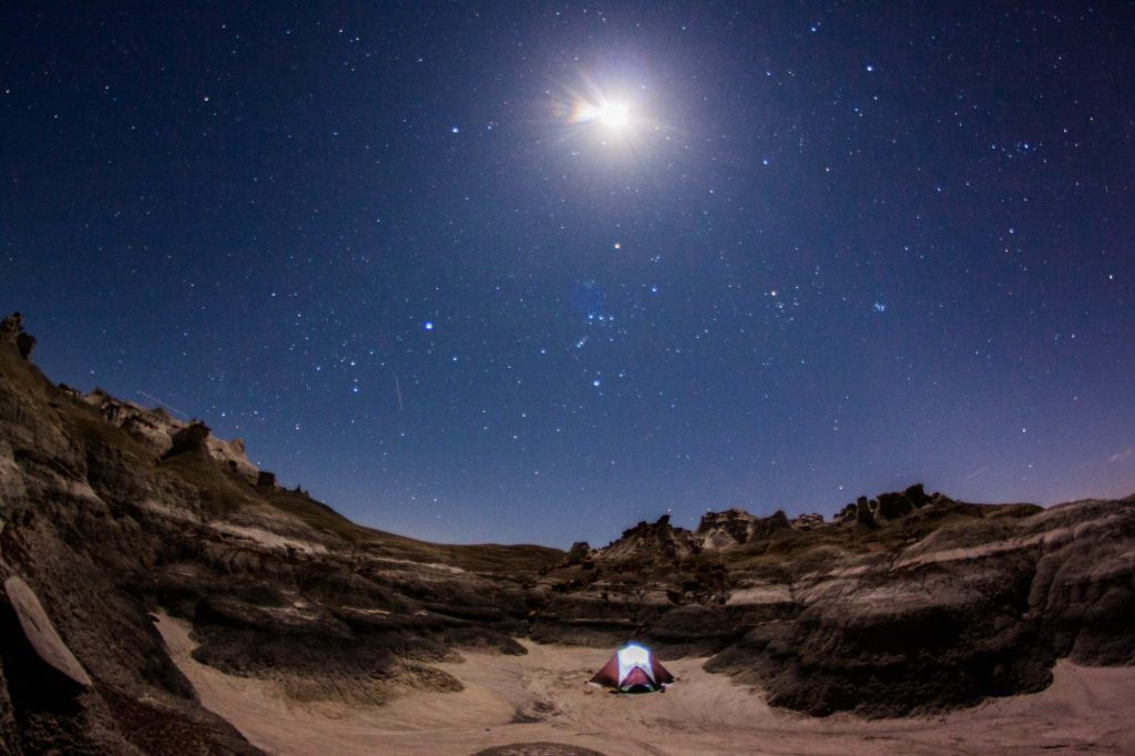Wadi Rum camping by yourself Jordan