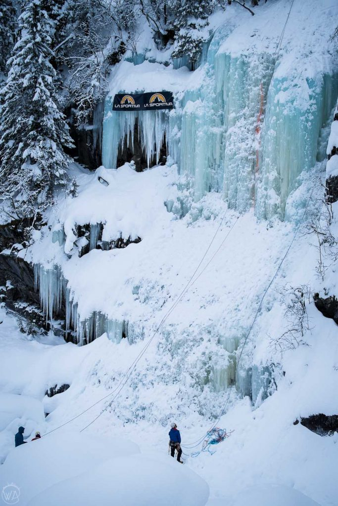 Rjukan ice climbing Norway