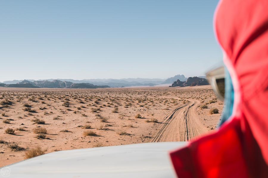 Travelling through the Wadi Rum desert