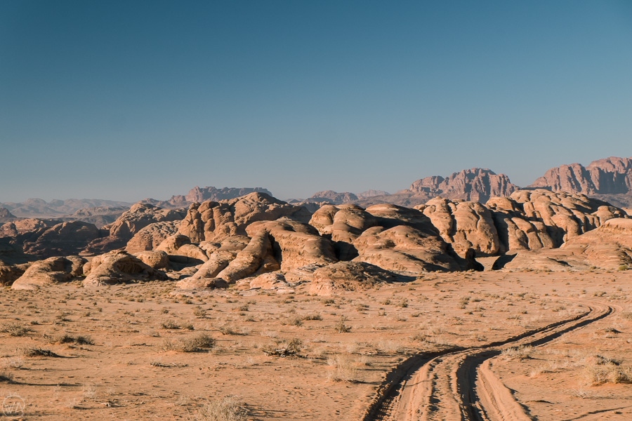 Uniquely shaped rock formations, Wadi Rum