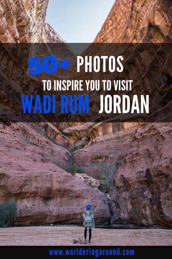 50+ inspiring photographs of Wadi Rum Desert in Jordan with camels, red dunes, striking rock formations and local Bedouins. Find out which places to visit in Wadi Rum, where to stay in Wadi Rum, where to go stargazing during Wadi Rum camping in Bedouin tents and more reasons to visit Wadi Rum in Jordan. | #worlderingaround #jordan #wadirum #middleeast #asia #desert #photography #gallery #photos #travelphotos #travelinspiration