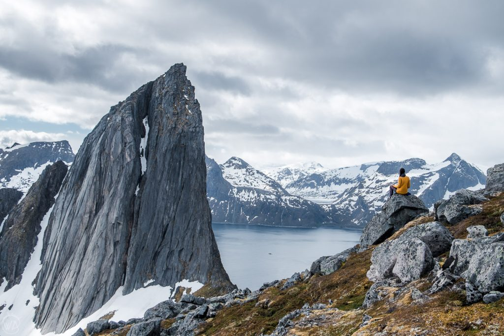 Looking at Segla from the Hesten hike in Senja, Norway
