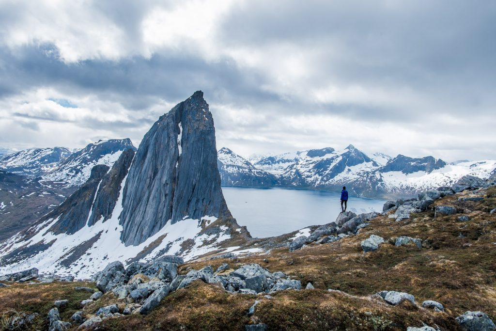 View to Segla mountain on Senja island, Norway