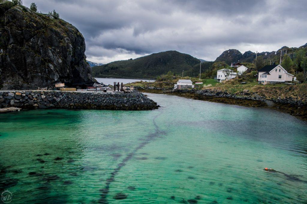 View from Hamn I Senja, Senja island in Norway