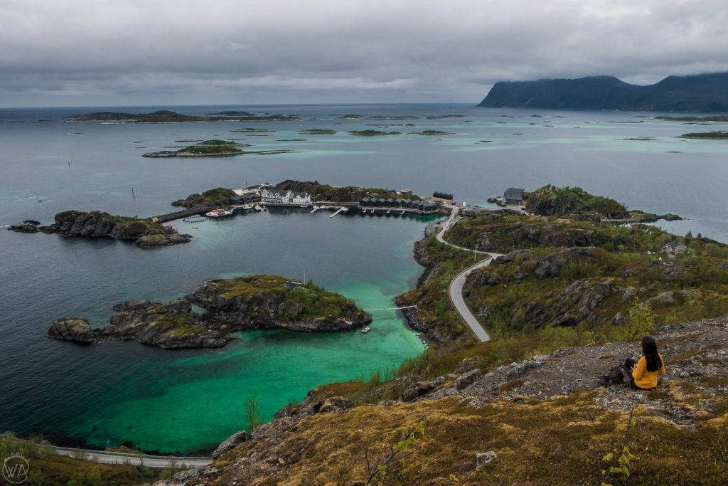 The view to the Bergsoyan archipelago on Senja island Norway