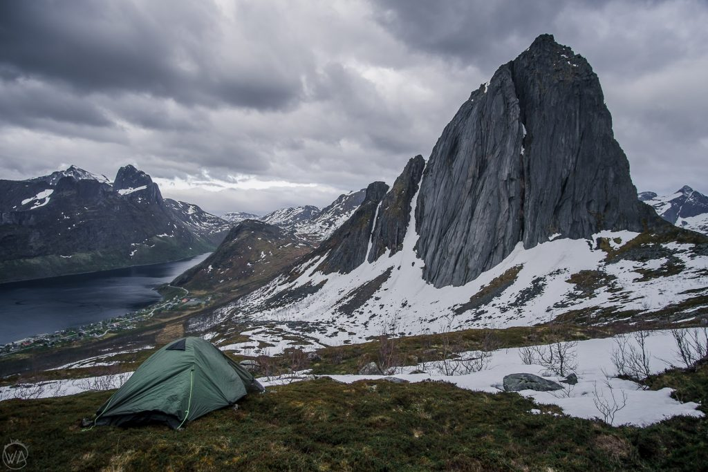 Camping near Segla in Senja. Norway