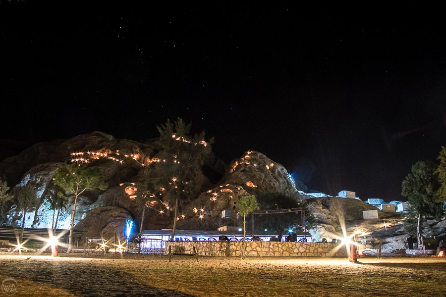 Where to stay in Jordan in Petra, a fairy lights lit camp