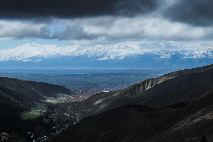 View to Karakol Valley, Kyrgyzstan