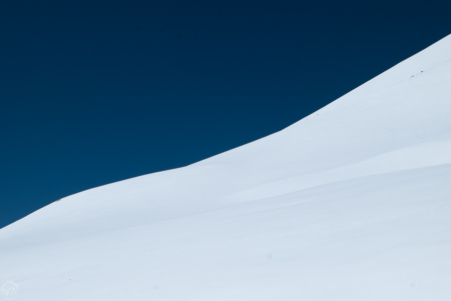 Where the sky meets the snow. Chon-Ashu pass, Tian Shan, Kyrgyzstan