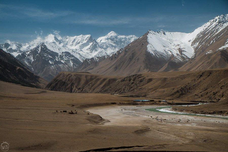 The view to Sary Jaz Valley in Kyrgyzstan, Tian Shan