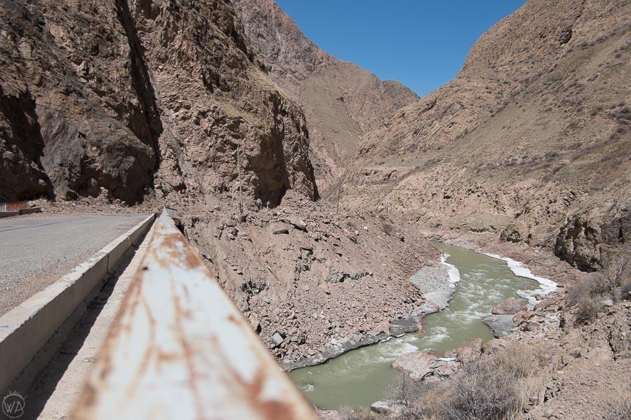 Sary Jaz River or Aksu River, Kyrgyzstan, Tian Shan Mountains