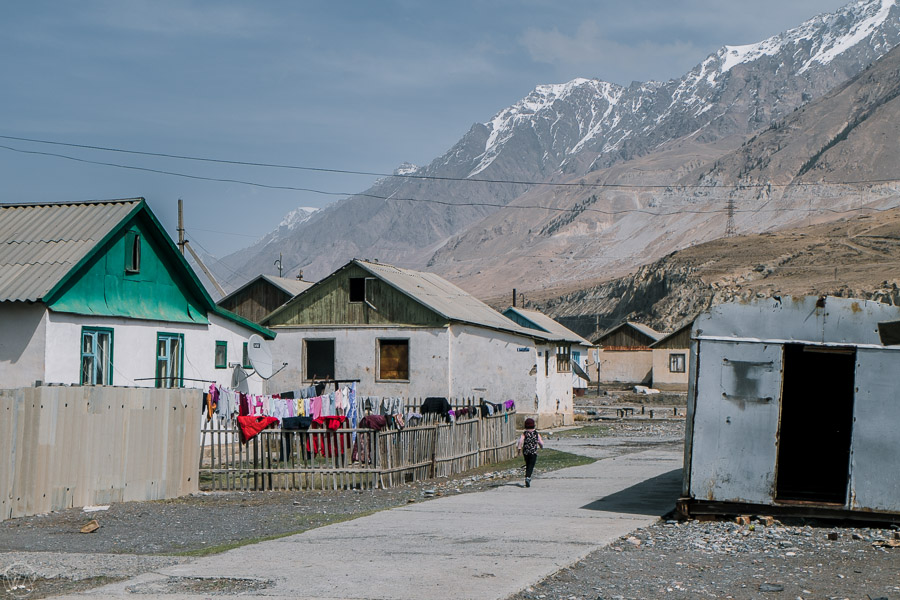 30 families live in Engilchek town, deep into the Tian Shan mountains in Kyrgyzstan.