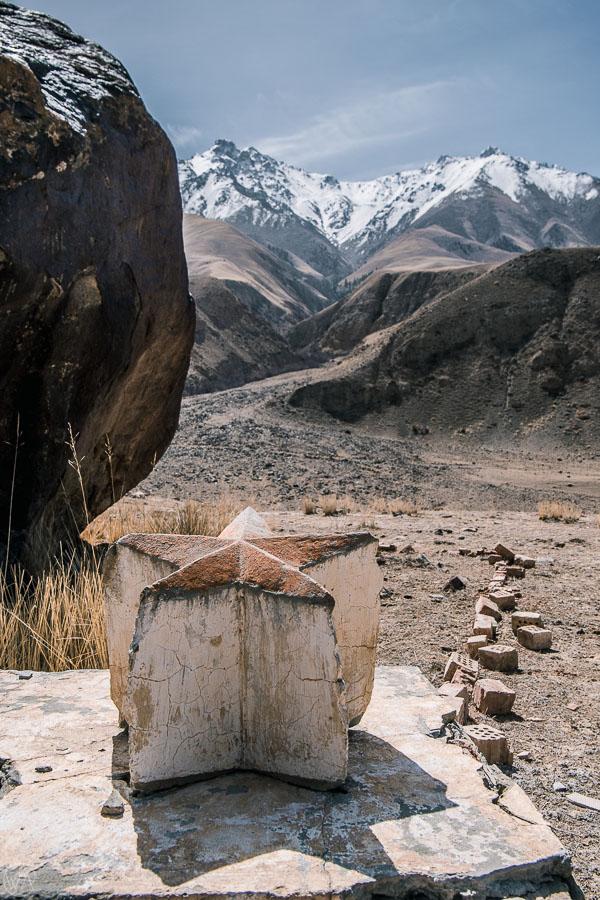 Soviet monument, Kyrgyzstan