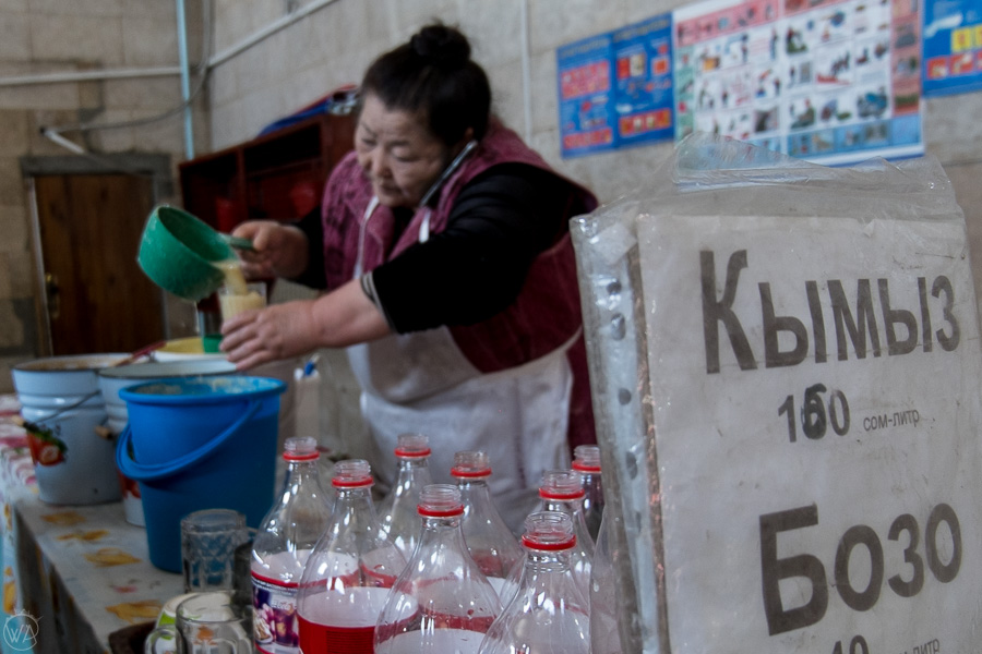 Try Kumys - fermented milk. One of the things to do in Kyrgyzstan.
