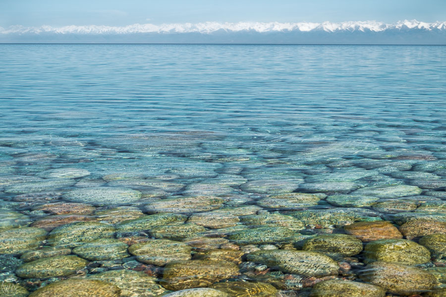 Swim in the Issyk Kul lake