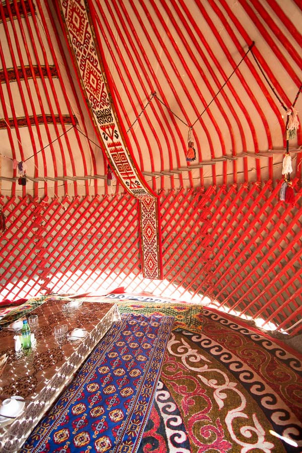 Inside of the traditional yurt - what to do in Kyrgyzstan
