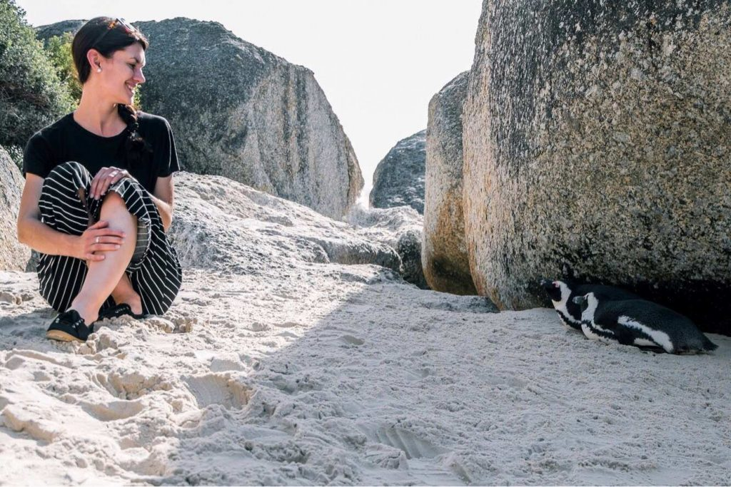 Getting friendly with penguins in South Africa, the Boulders beach