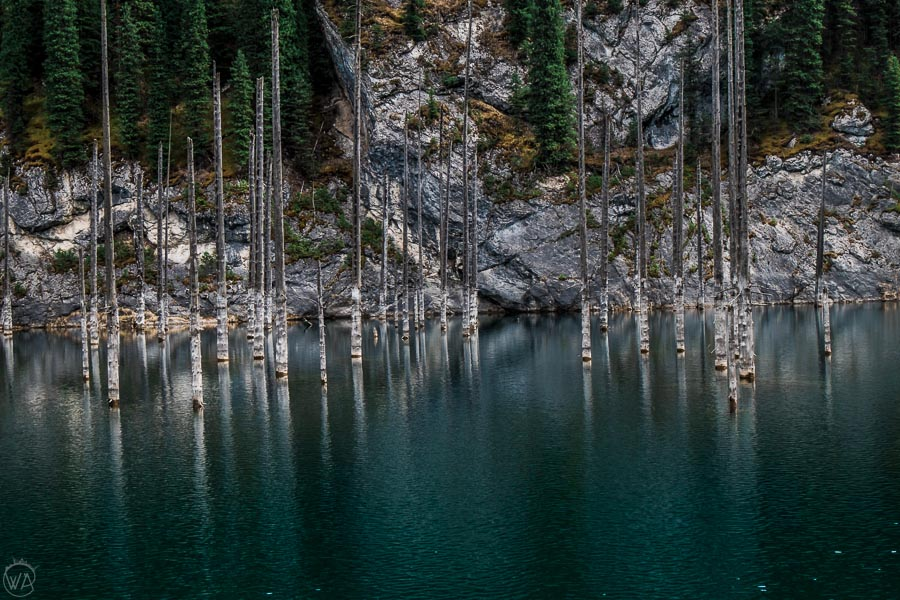 Lake Kaindy and sunken forest, Kazakhstan, my favourite stop in Central Asia travel