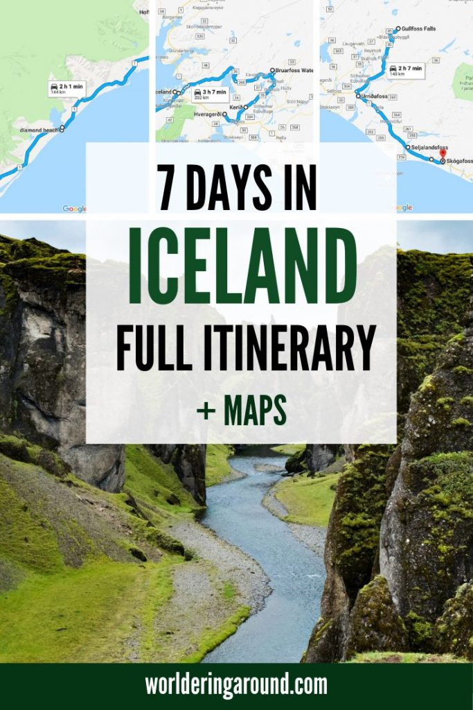 The best Iceland itinerary & MAPS. How To Spend 7 Days In Iceland with Iceland road trip itinerary, including Iceland bucket list. Iceland 7 days itinerary. Find top things to do in Iceland, and Iceland road trip guide, Iceland travel guide | #worlderingaround #iceland #icelandtravel #reykjavik #europe #travel