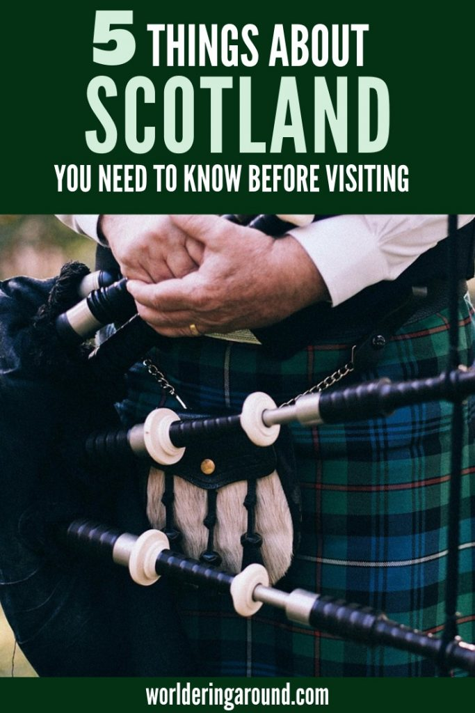 5 things about Scotland you need to know before you visit. Visit Scotland with no surprises, travel Scotland in the best way, learn about Scotland, and the UK. What you need to know before you travel to Edinburgh, visit Inverness, hike Scotland Highlands, visit Glasgow, Isle of Skye travel #Scotland #Edinburgh #UK #Europe #travel #IsleofSkye