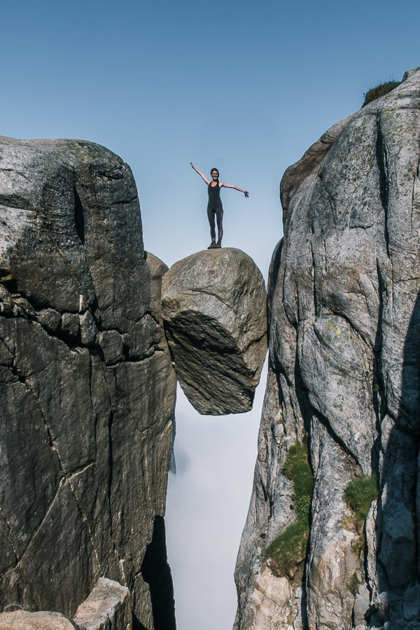 Kjragbolten hike, Norway