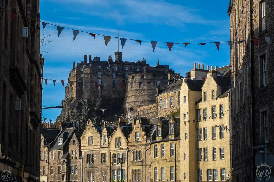 Edynburg Szkocja, widok na Zamek w Edynburgu