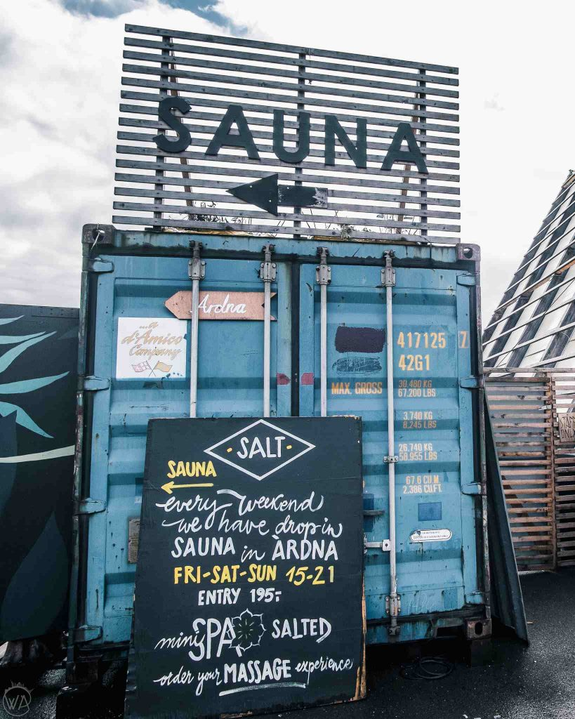 Things to do in Oslo in winter - visit SALT sauna