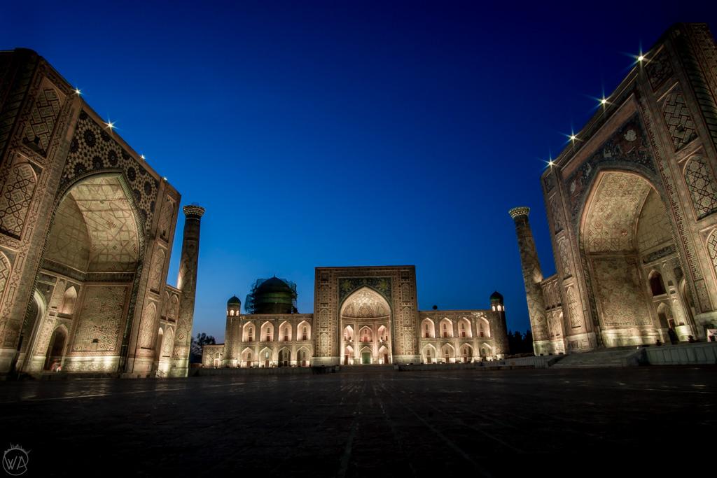 Registan nocą, Samarkanda