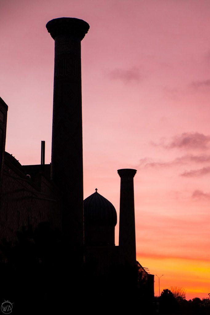 Registan at sunrise, Uzbekistan