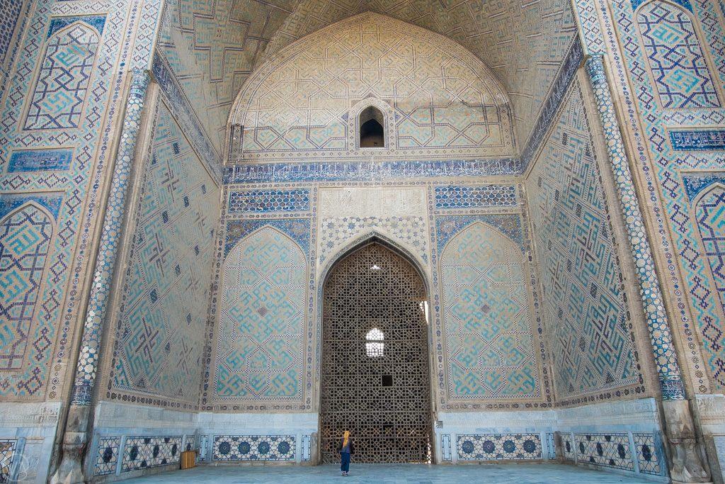 Big part of the Bibi Khanym Mosque, Samarkand, Uzbekistan