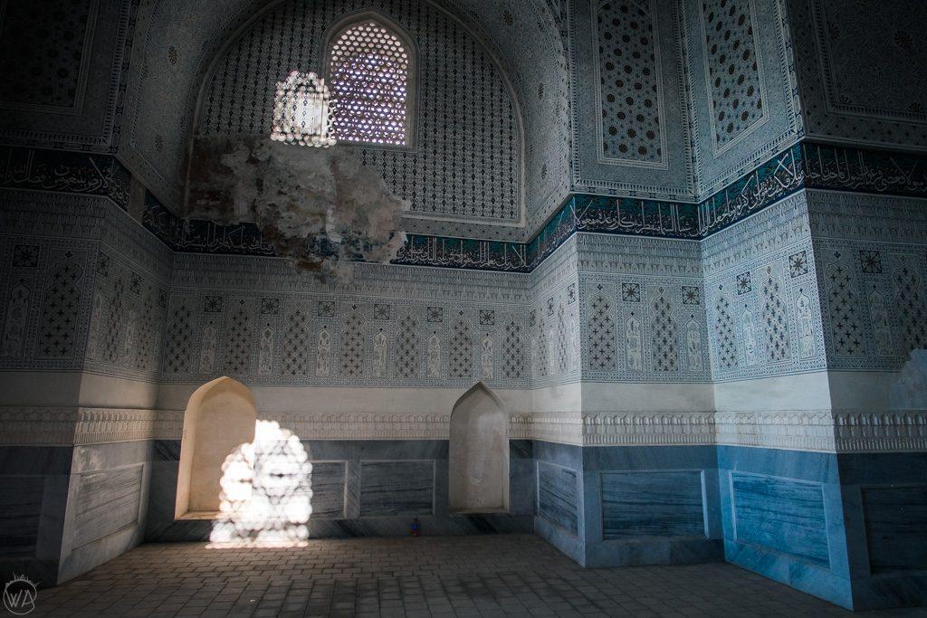 Light coming in the Bibi Khanym Mosque, Samarkand, Uzbekistan
