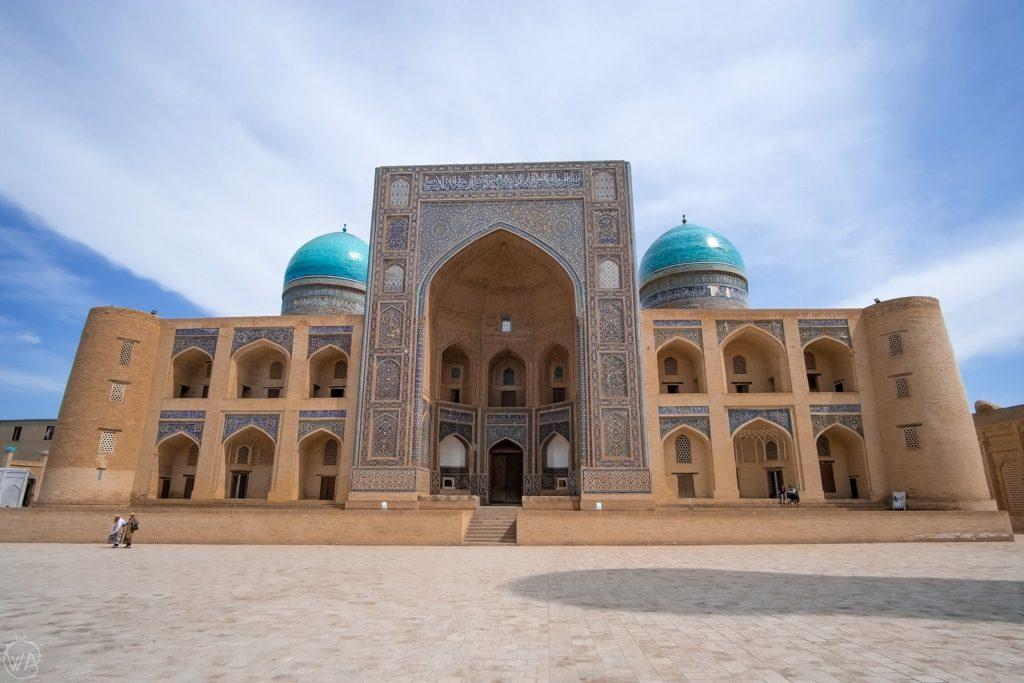 Mir-i-Arab Madrasa, part of Po-i-Kalyan in Bukhara, Uzbekistan