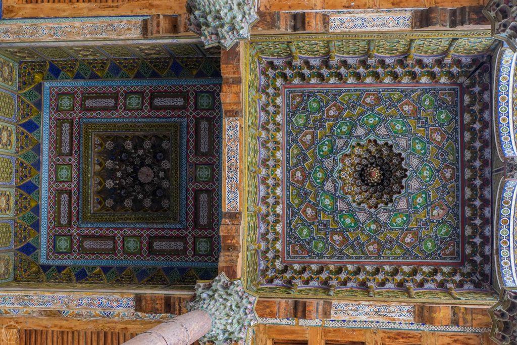 Roof of Bolo Haouz Mosque, Bukhara, Uzbekistan