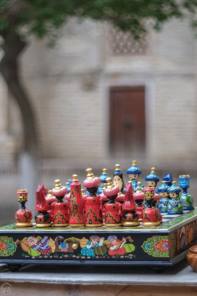 Hand-painted Uzbek chess, Bukhara