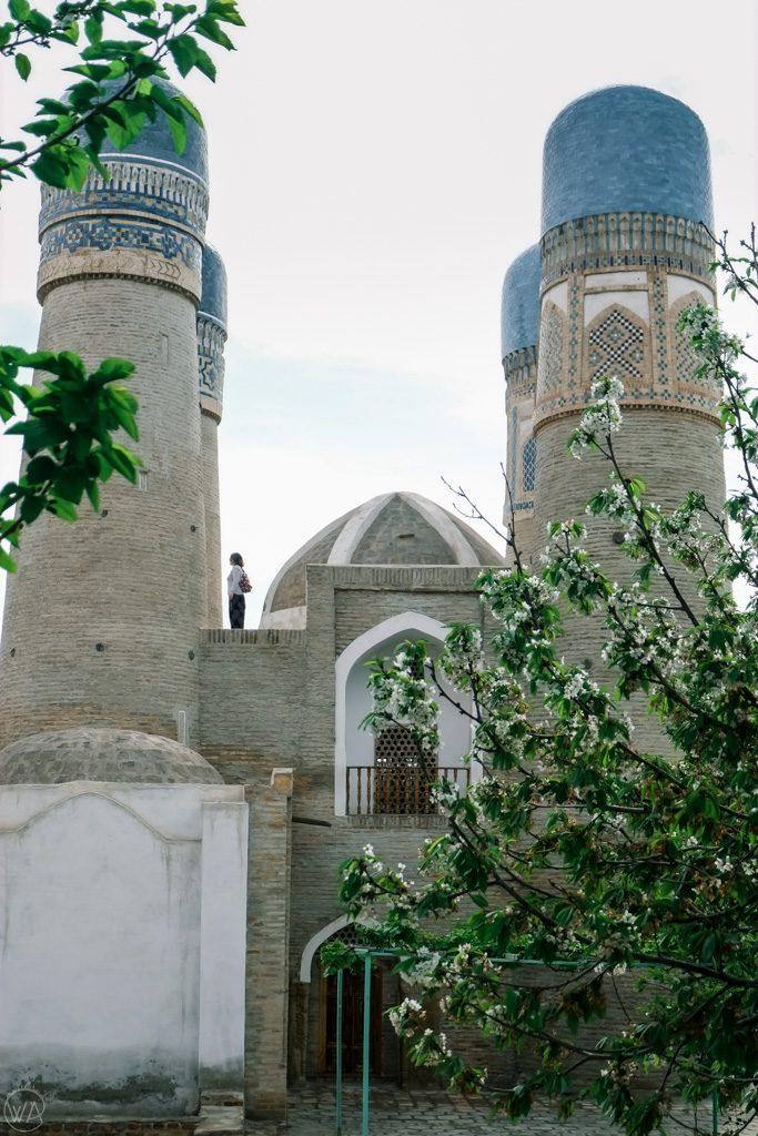 View to the Chor Minor, Bukhara, Uzbekistan